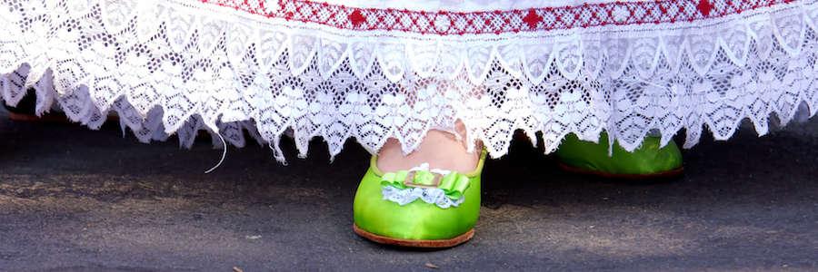 Zapatos de Satín - Pollera panameña