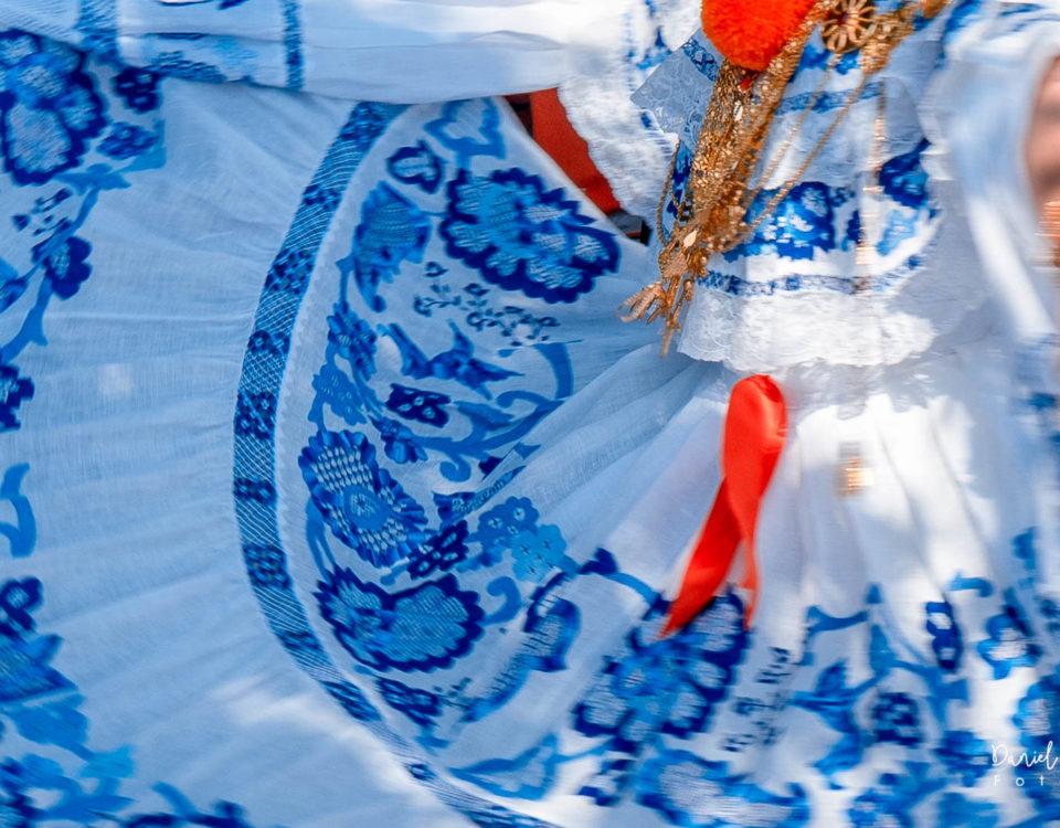 Pollera de gala santeña - Pollera Panameña