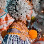 Tembleques blancos - Desfile de las Mil Polleras - Enero de 2014 - Pollera Panameña