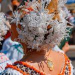 Tembleques blancos - Desfile de las Mil Polleras - Enero de 2016 - Pollera Panameña