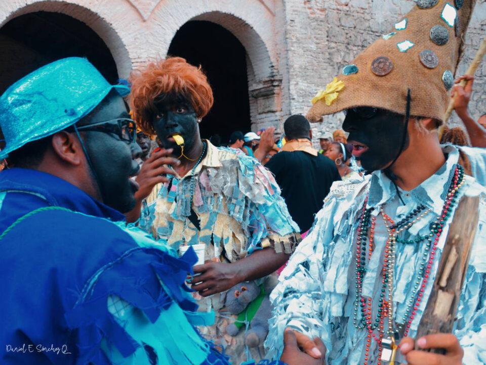 Congos conversando en Portobelo