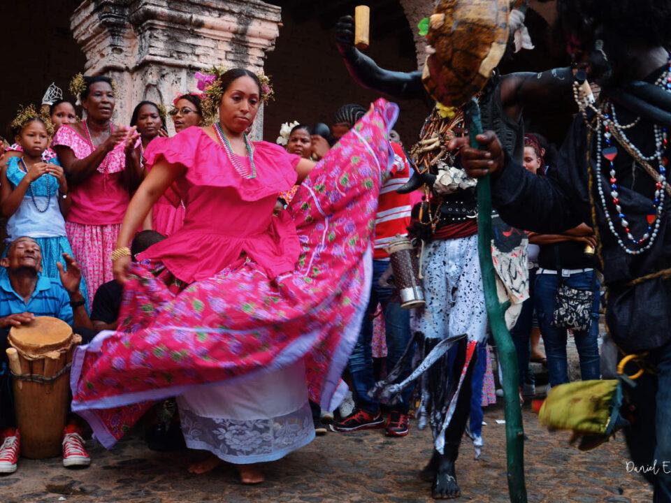 Baile Congo en Portobelo - Pollera Congo